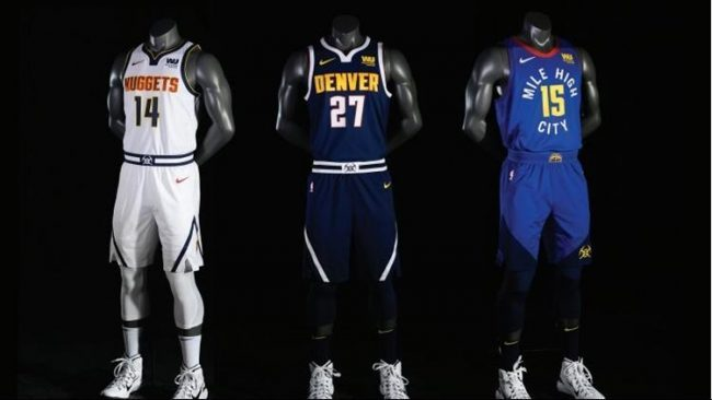 fa293a82035 Denver Nuggets Unveil New Jerseys ... Again