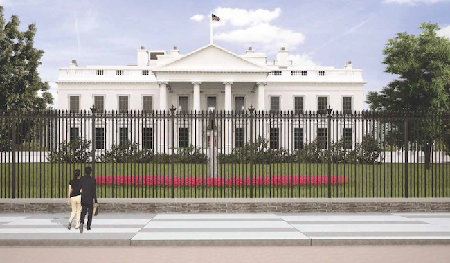 Rendering of new White House fence, courtesy NPS.gov