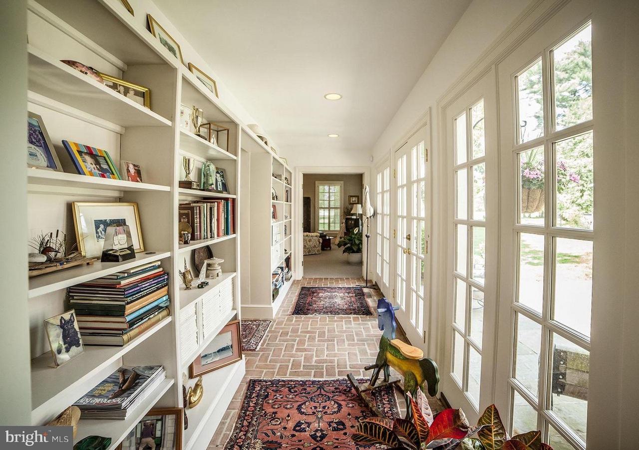 hallway with windows