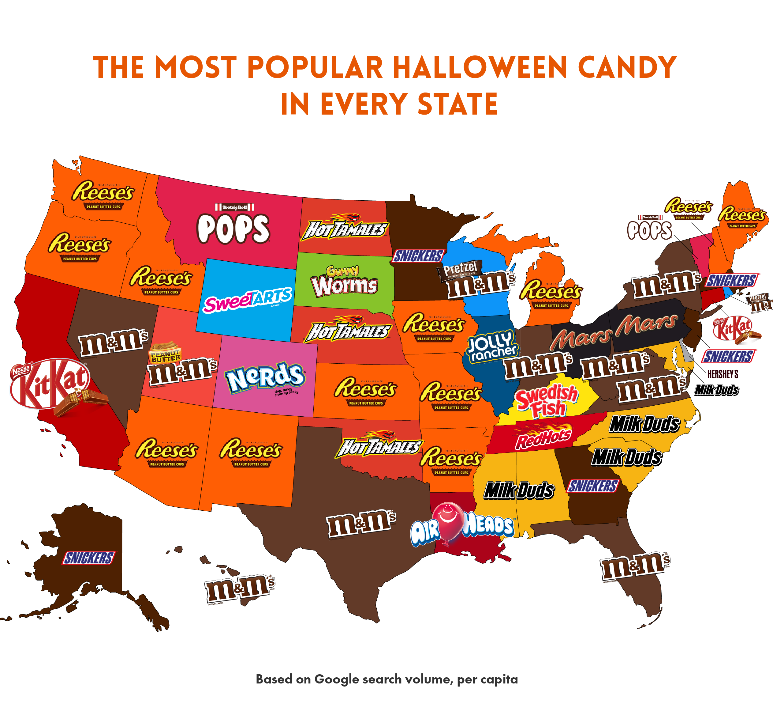 map, candy