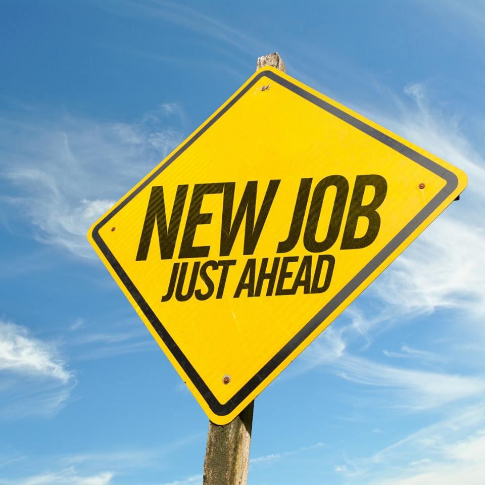 sign, new job