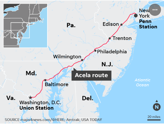 Amtrack Route