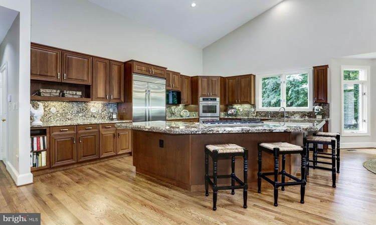 Wide angle of Avenel Kitchen