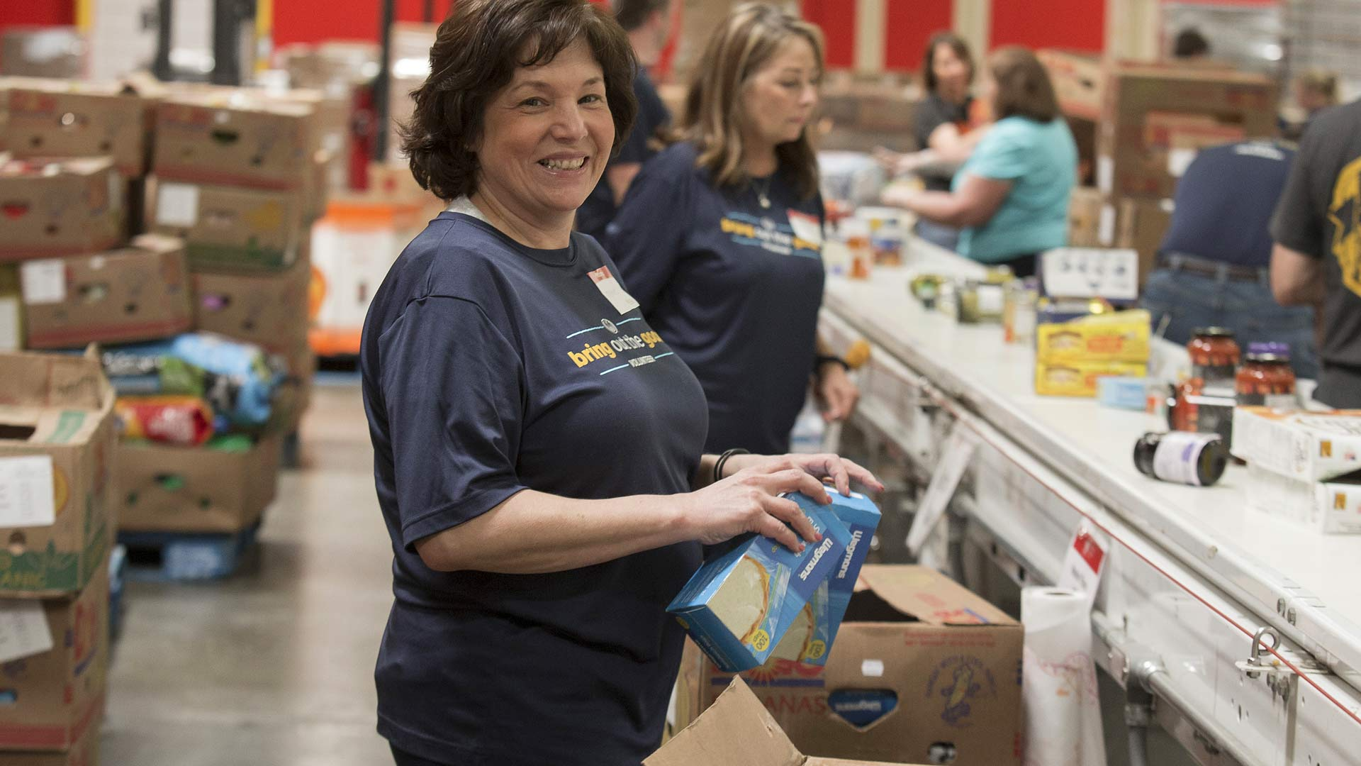 Maryland Food Bank, volunteer,warehouse