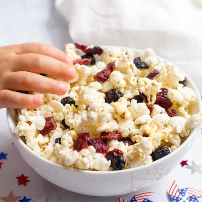 Red, White and Blue Popcorn