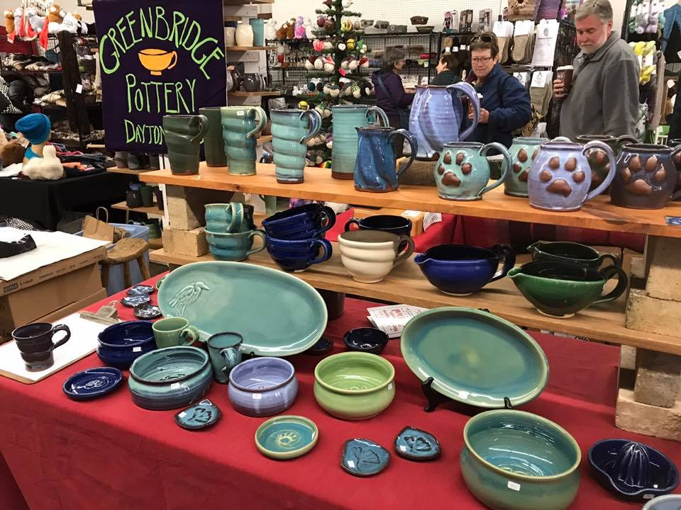 pottery, booth