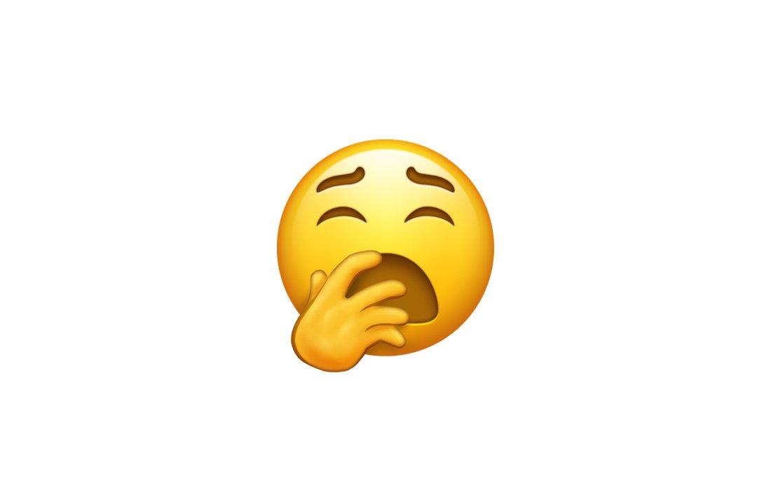 new yawning emoji