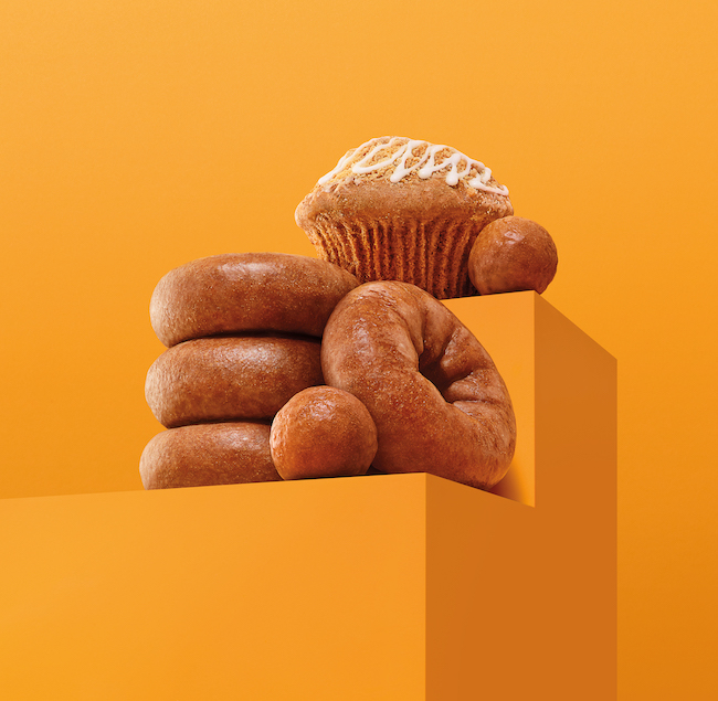 Pumpkin donuts and muffins from Dunkin'