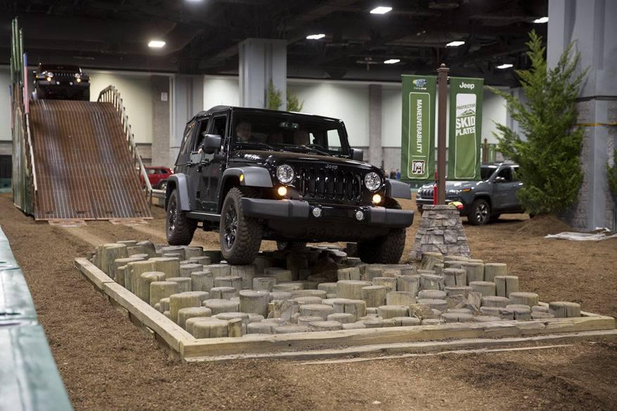 Washington Auto Show, jeep, test drive