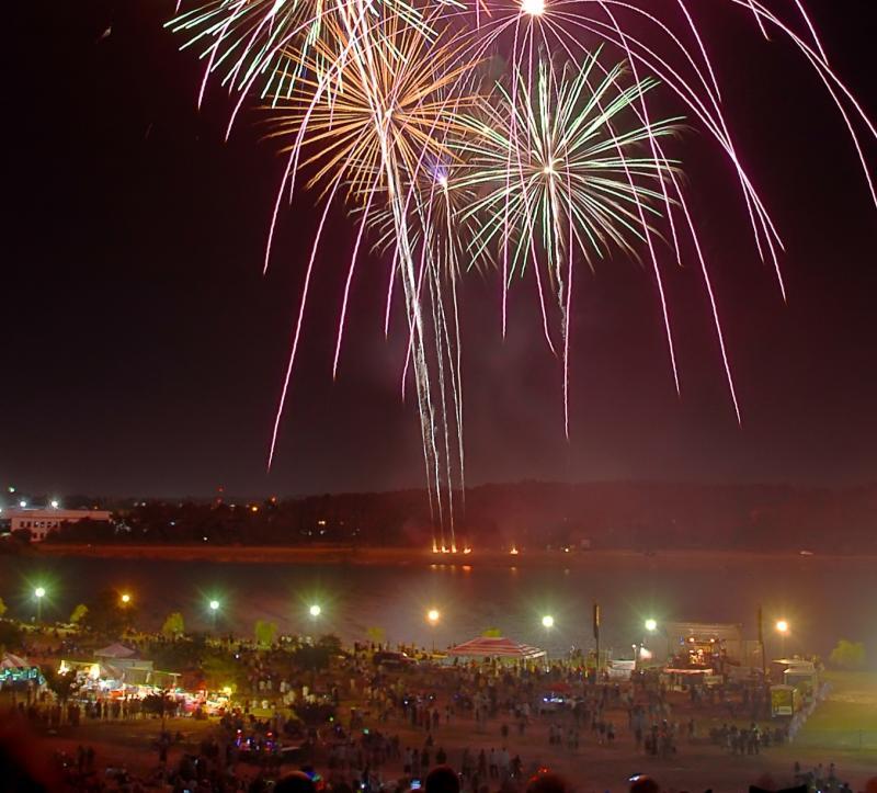 Mt. Trashmore Fireworks