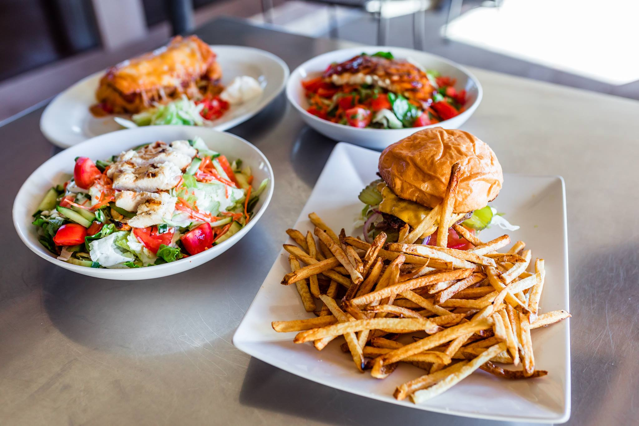 20 mile tap house burger and salads