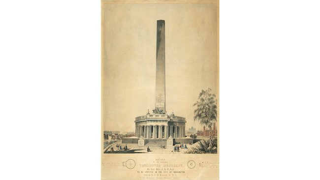 Original design of the Washington Monument, GWUM