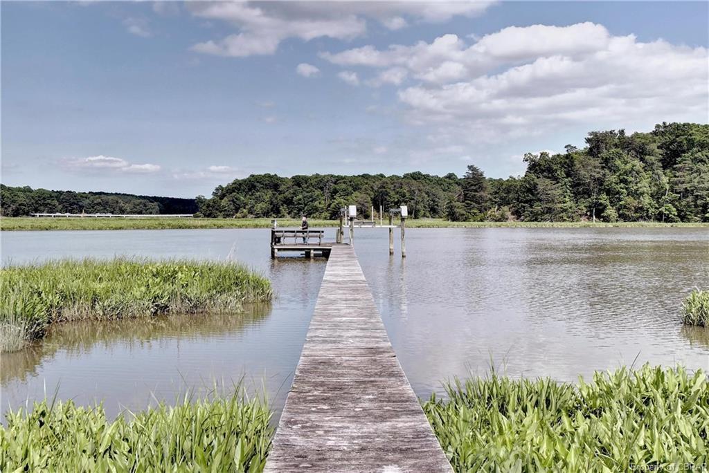 dock, river