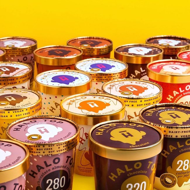 Halo Top Creamery Pints, courtesy of Facebook