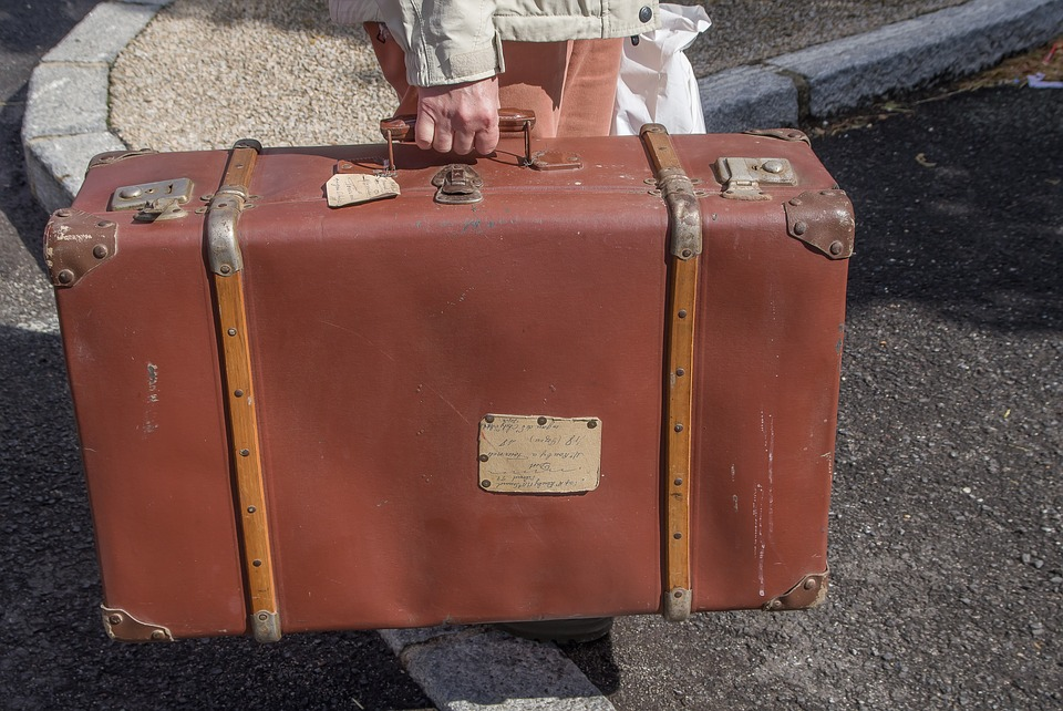 Carry an empty suitcase for luck in the new year.