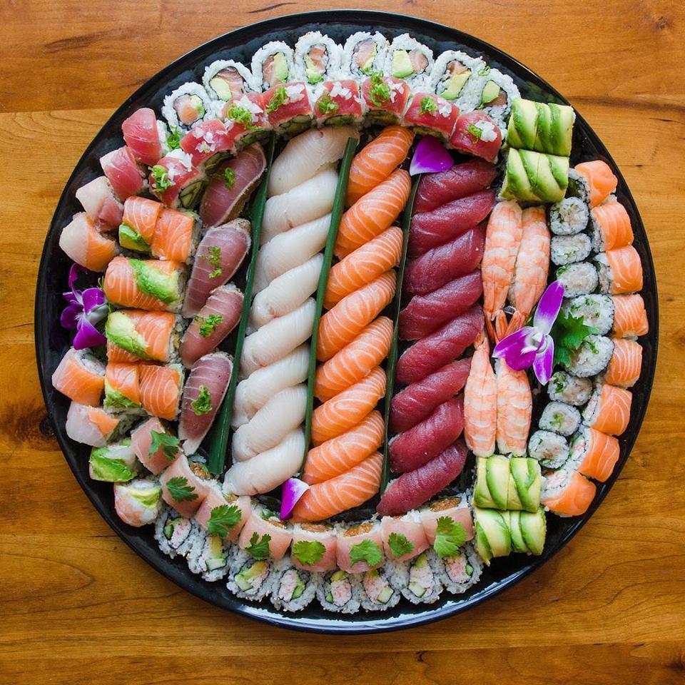 sushi platter from hapa sushi