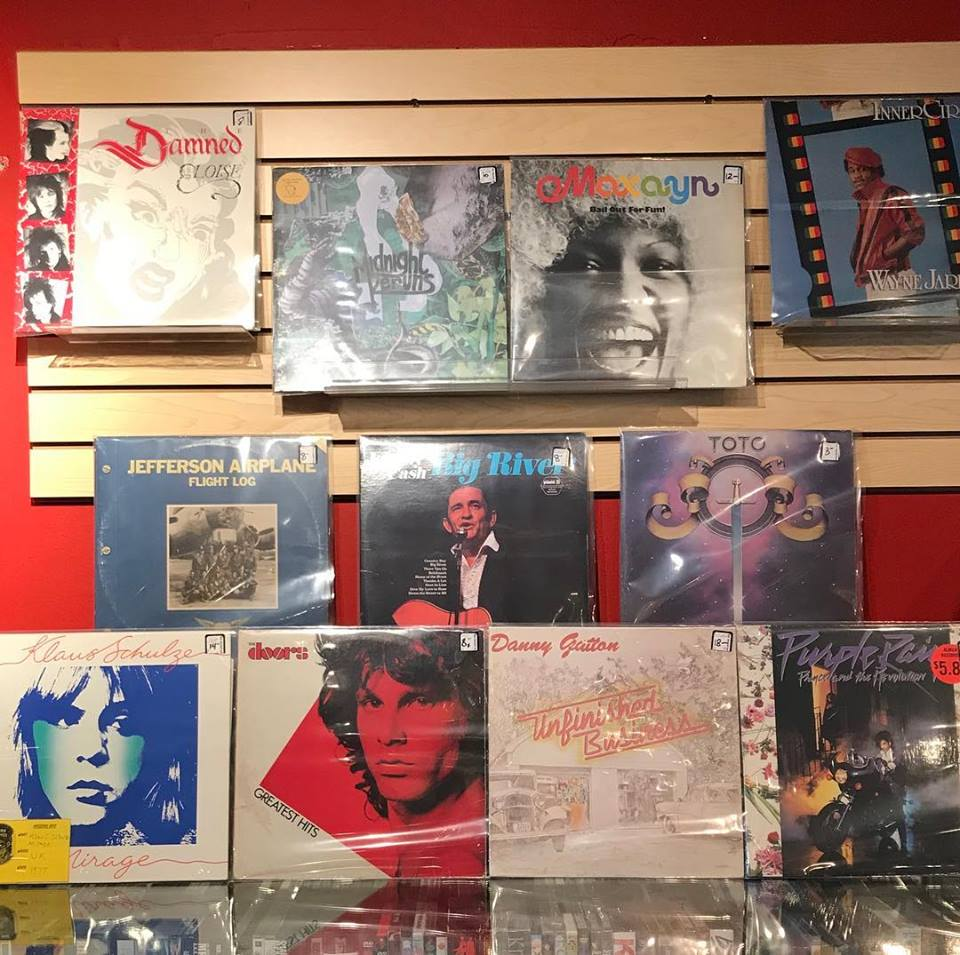 records on display courtesy of Facebook