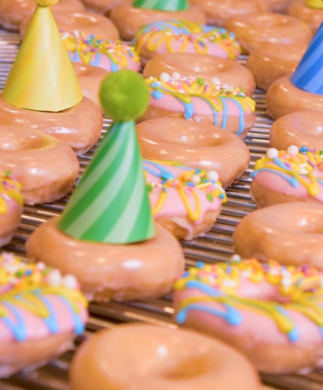 birthday doughnuts courtesy of krispy kreme