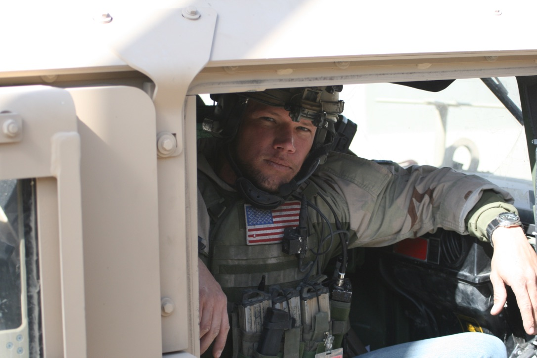 Green Beret in Humvee in Iraq