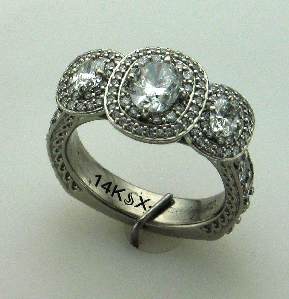 tarnished diamond ring