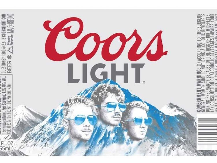 Coors Light Jonas Brothers Label