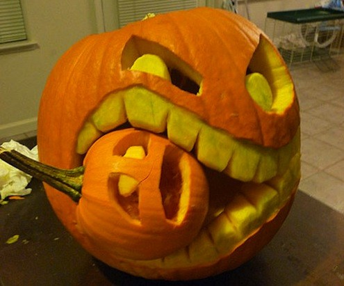 cannibal pumpkin carving