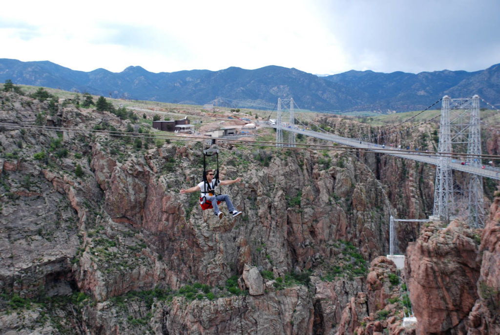 cloudscraper zip line at royal gorge bridge and park