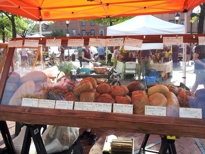 bread vendor at fells point farmers market