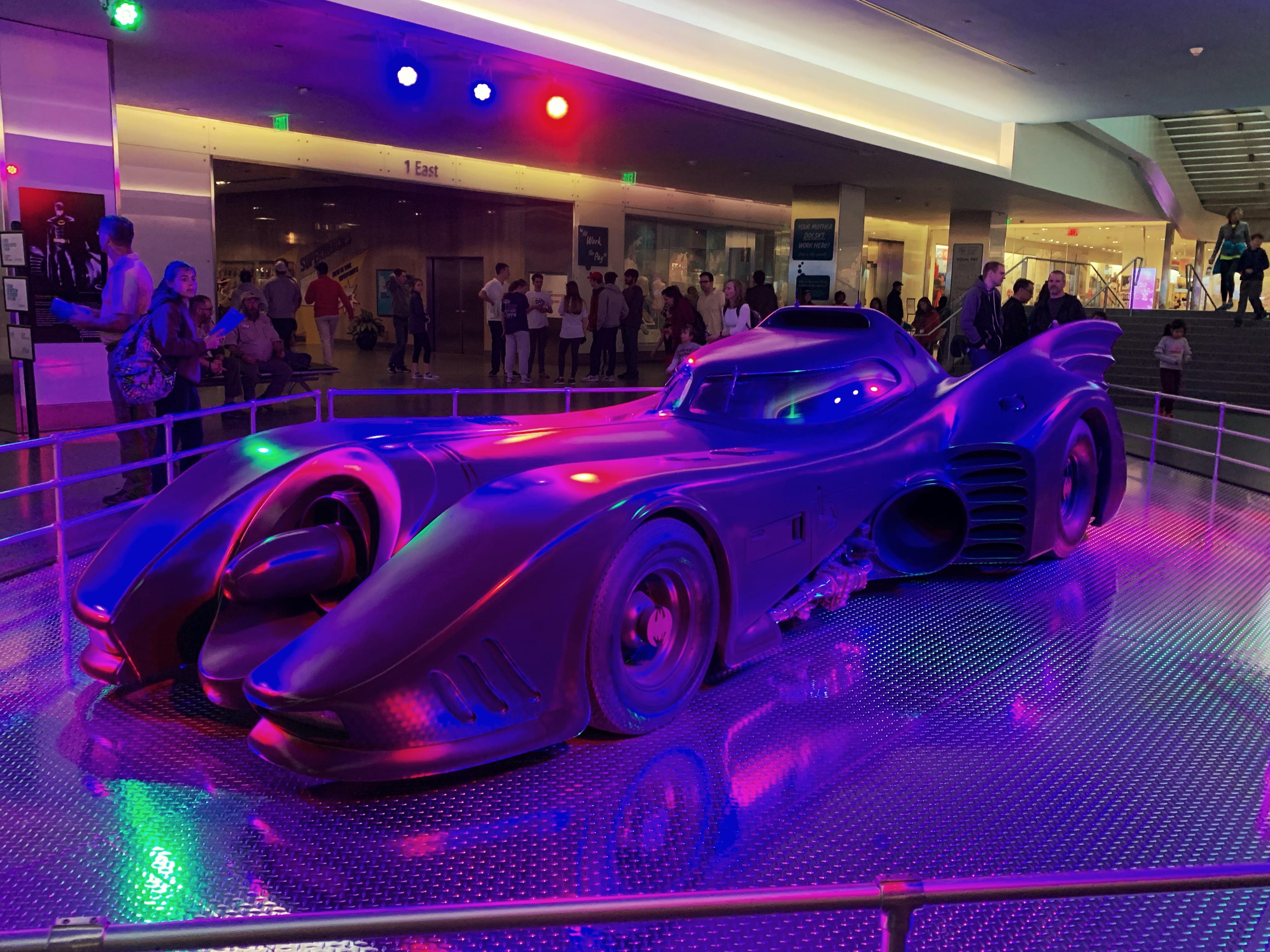 Batmobile at the Smithsonian's Superhero Exhibit