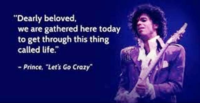 Prince Let's Go Crazy Purple Rain