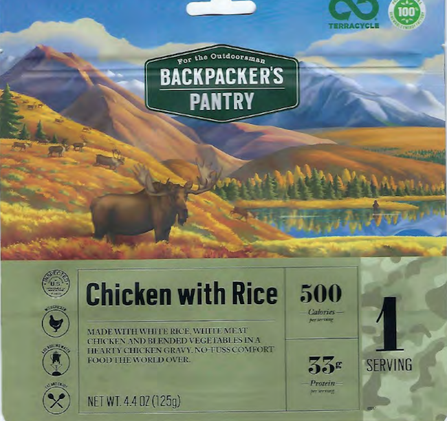 Sample of a label of affected chicken recall products