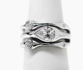 newly reset diamond ring