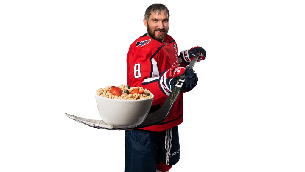 Alex Ovechkin, cereal
