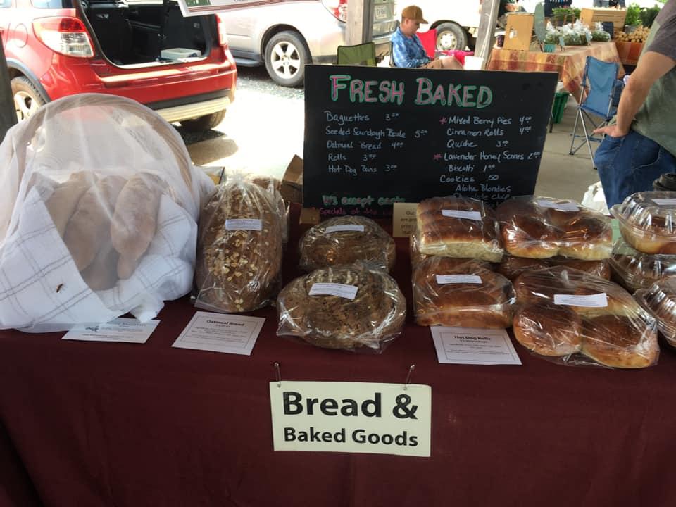 farmers' market, baked goods