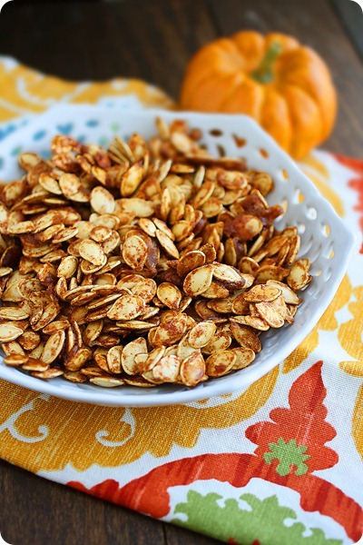 salted caramel pumpkin seeds