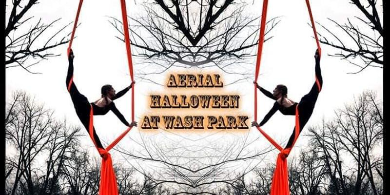 Aerial Halloween at Wash Park