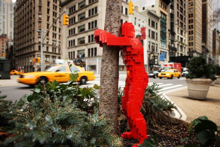 hugman art piece in new york city