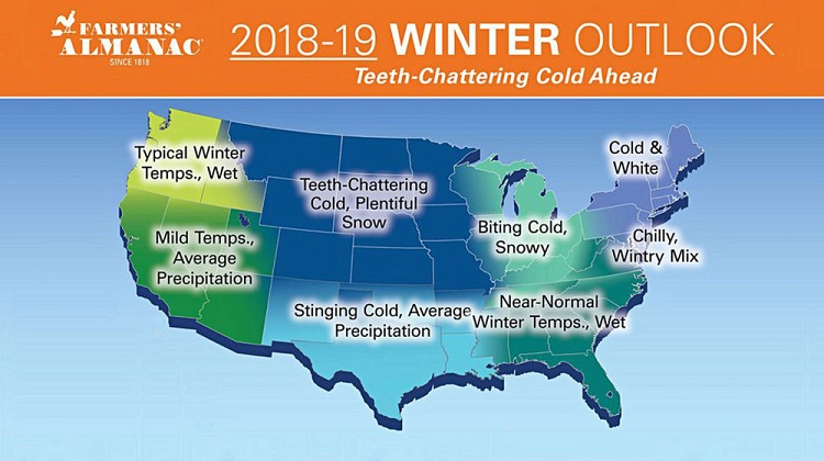 Farmers' Almanac Colorado Winter Prediction.