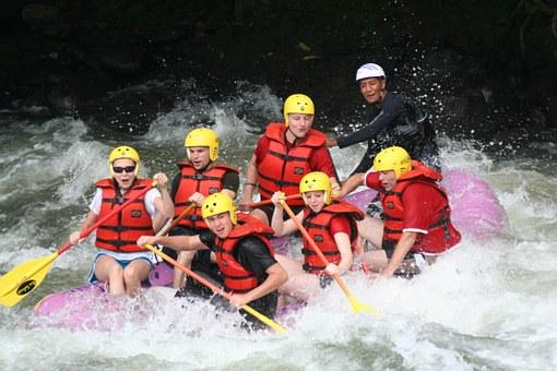 whitewater rafting, life jackets