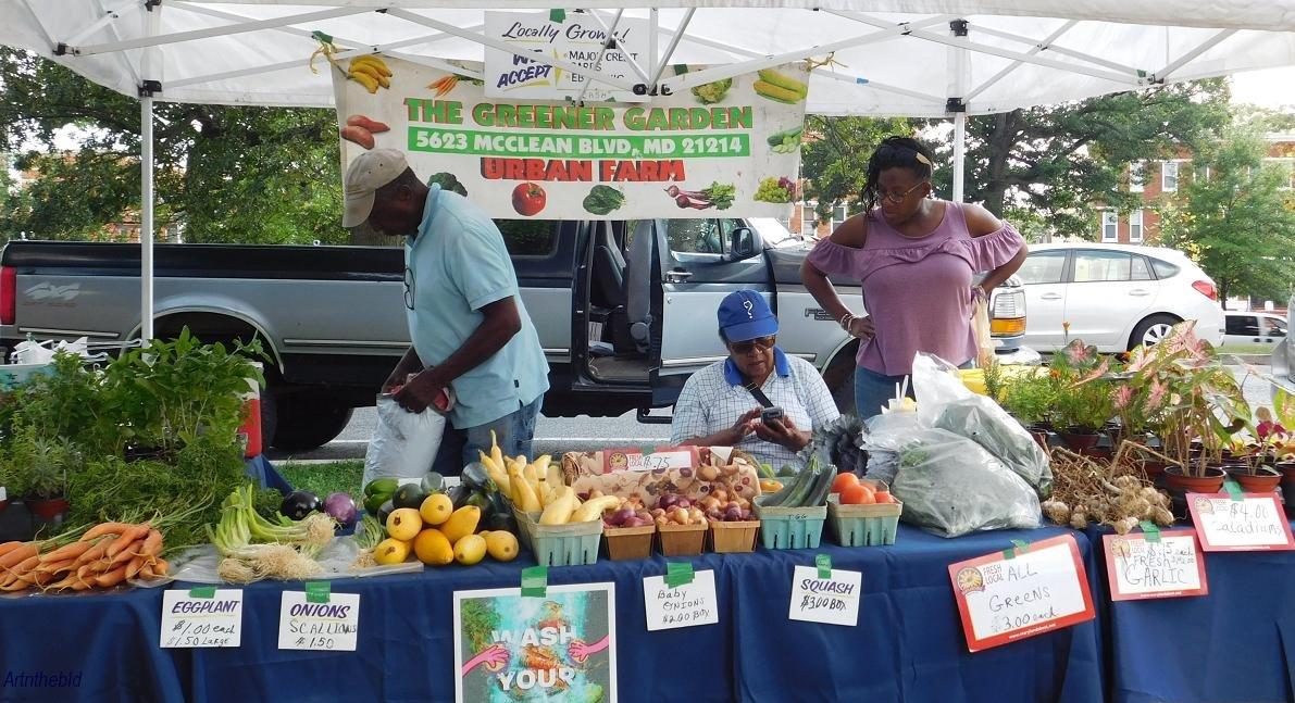 produce vendors at druid hill farmers market