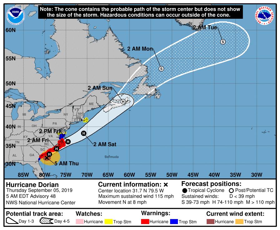 hurricane watch graphic