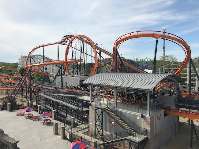 New Firebird Coaster at Six Flags America, image courtesy of Six Flags