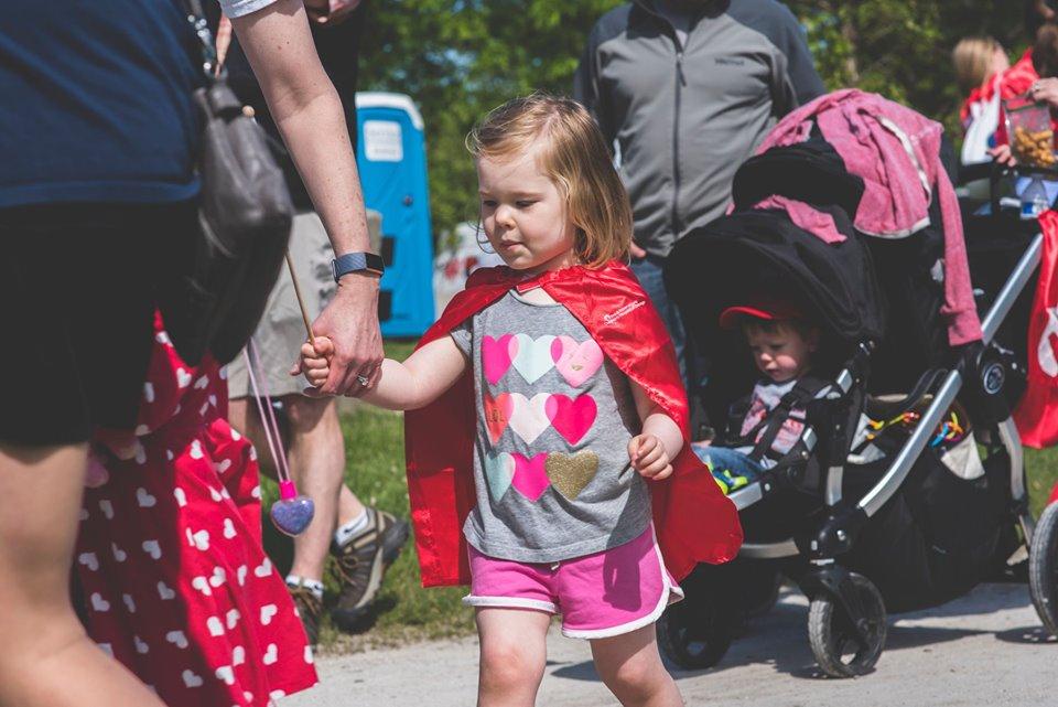 denver congenital heart walk, little girl, walking