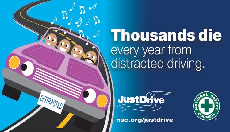 Playing loud music and singing with passengers is distracted driving.