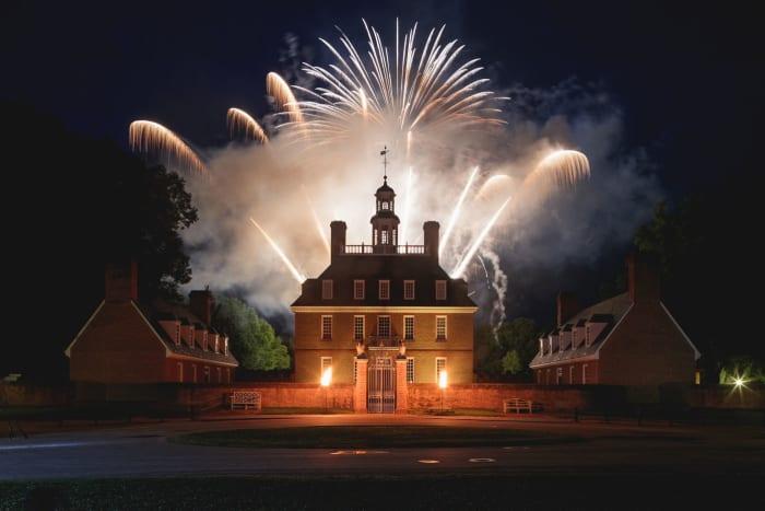 Colonial Williamsburg Fireworks