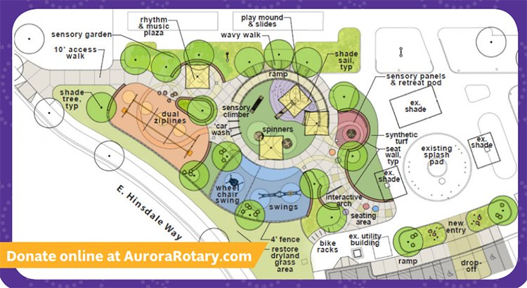 Inclusive park in Aurora