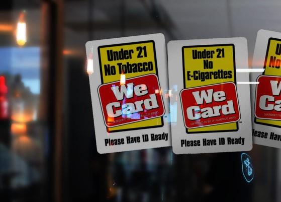 Smoking Vape Age 21 Law Virginia WeCard Signs