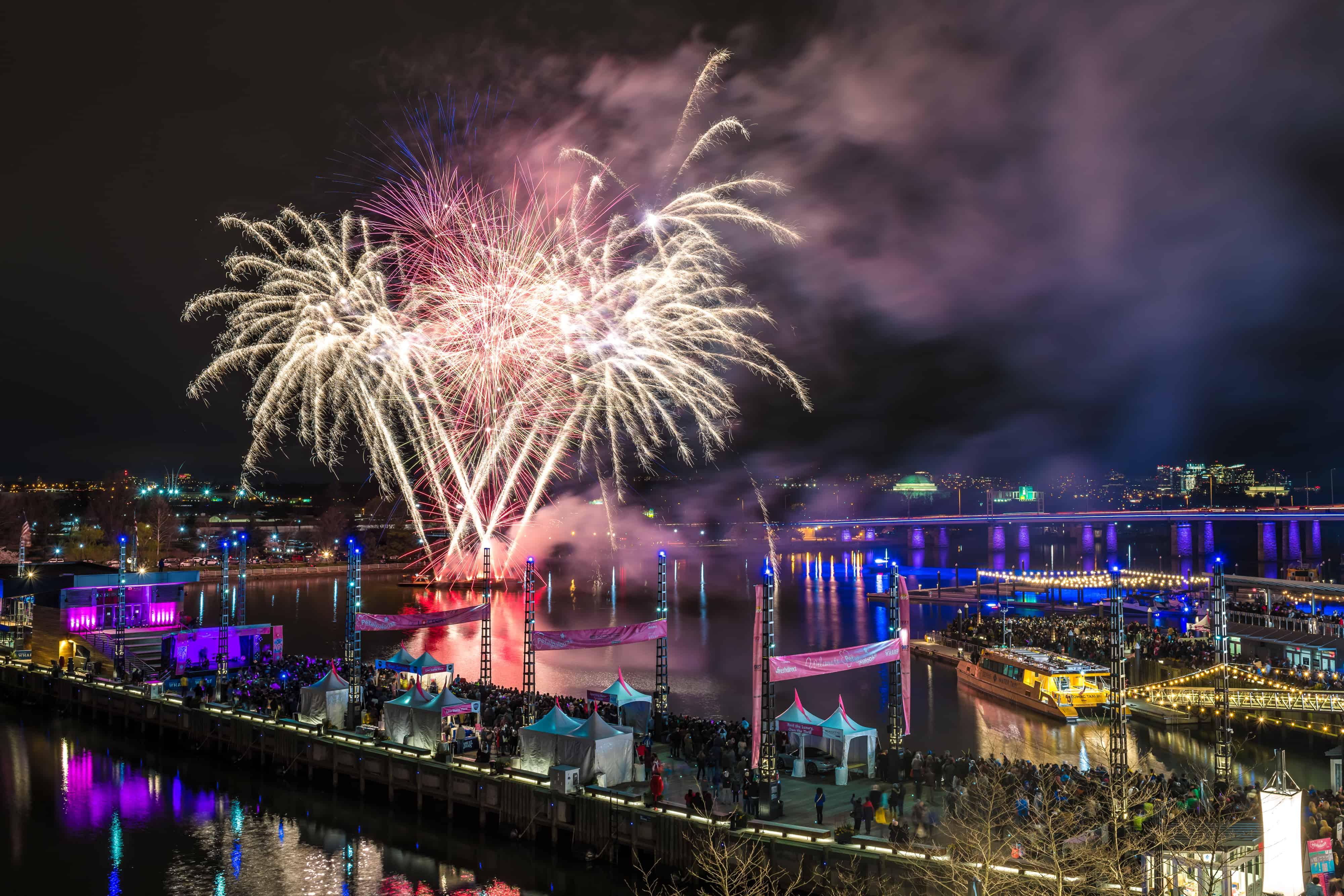 fireworks, D.C. wharf