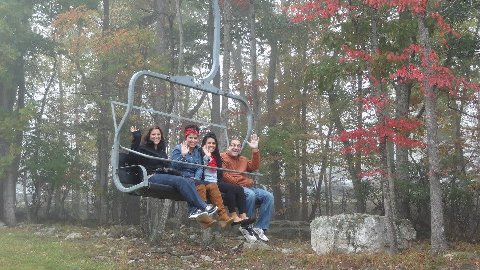 chair lift, foliage, waving