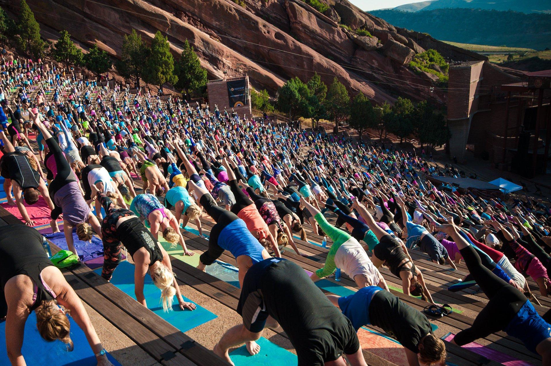yoga on the rocks